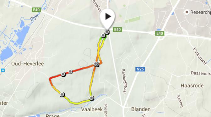 Eerste herstelloopje na Marathon