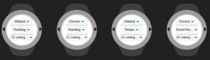 Suunto watch screens