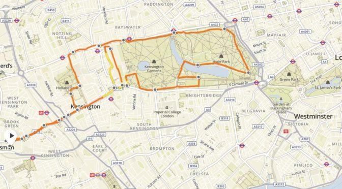 Citytrip Londen, dus lopen in Hyde park